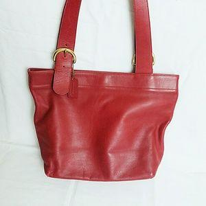 Red Coach Lafayette Tote Bag Purse H5C-4140